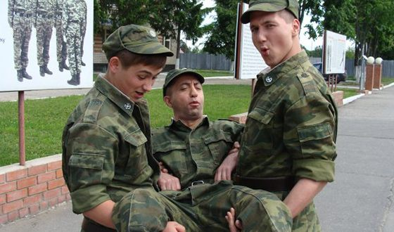"Kirill Kaganovich on the set of the series ""Soldiers"""