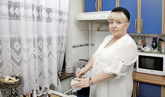 Actress at home