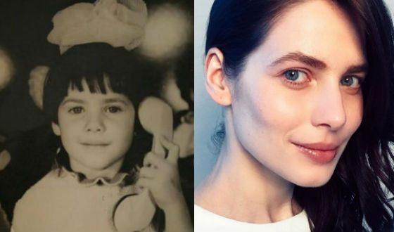 Юлия Снигирь в детстве и сейчас