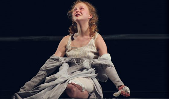 Anastasia Aseeva on the theater stage