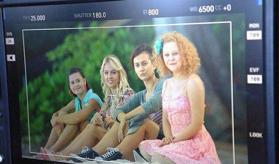 "Anastasia Aseeva on the set of the series ""The Island"""