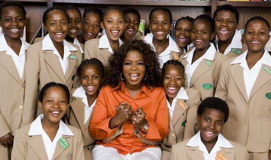 Опра Уинфри спонсирует образование детей из бедных африканских стран