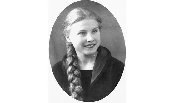 Maria Pakhomenko in her youth