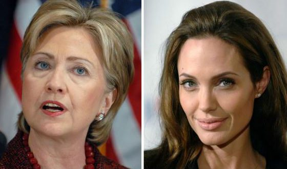 And Angelina Jolie and Hillary Clinton, too!