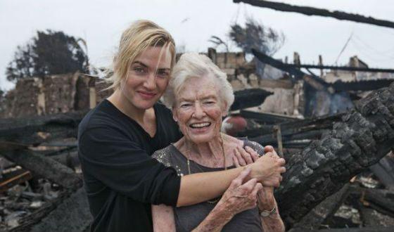Кейт Уинслет вынесла старушку из горящего дома
