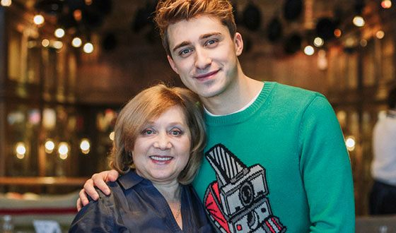 Artem Korolev and his mother