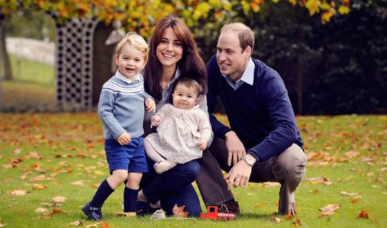 Kate, Prince William and (for the time being) their two children.
