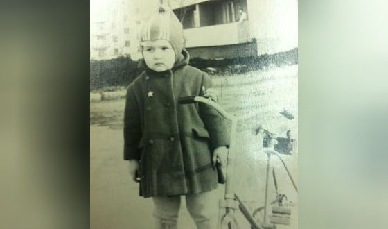 Olga Golodets as a child