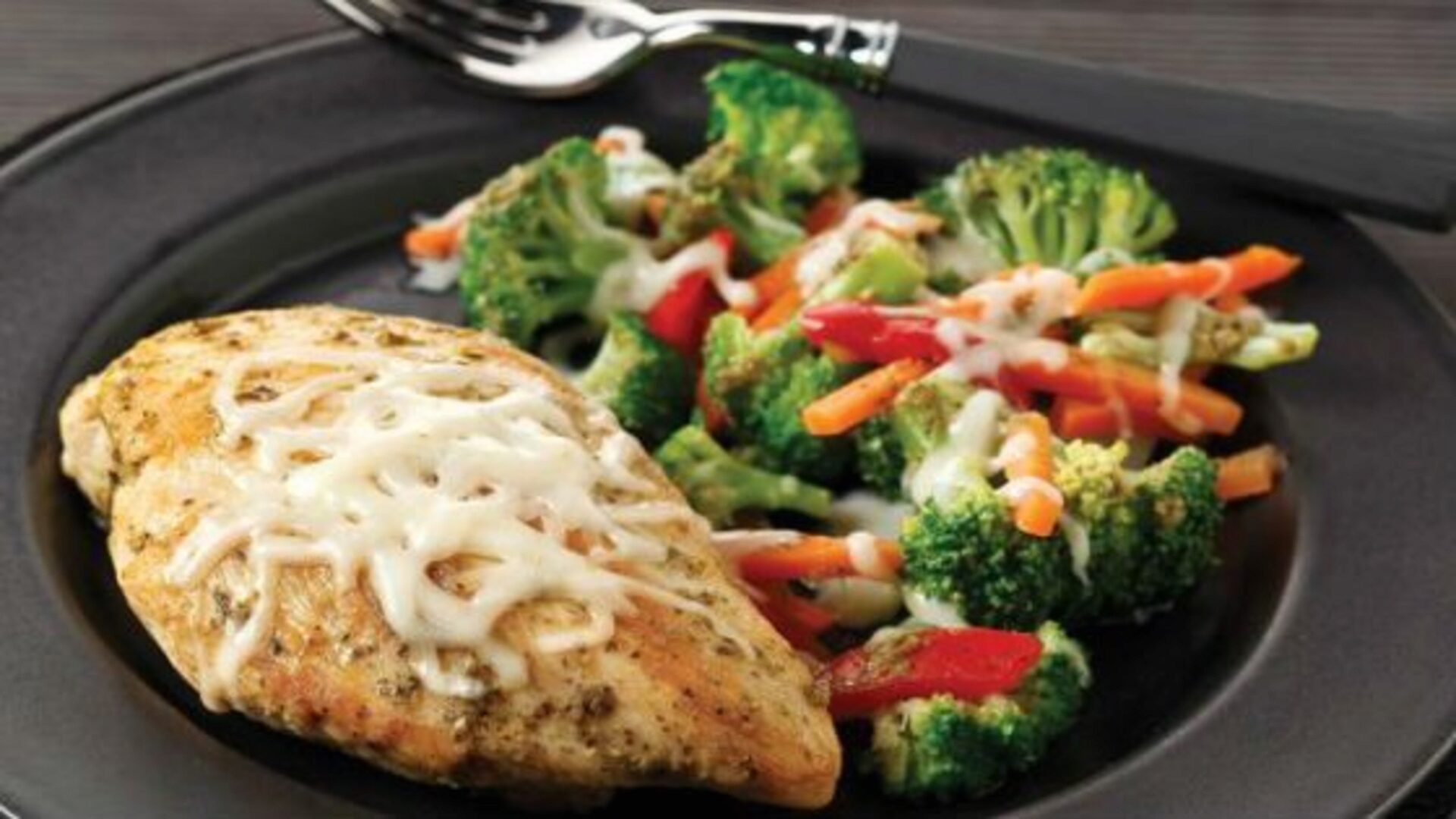 Chicken is good with greens and vegetables.