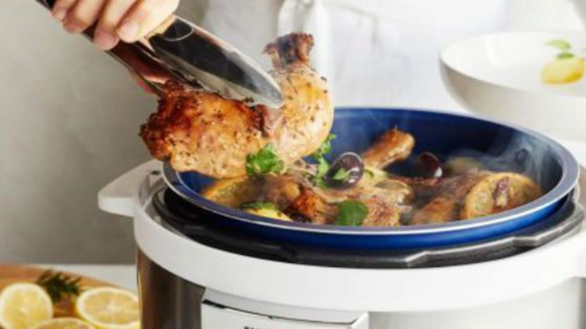 Chicken in the slow cooker is prepared quickly and simply