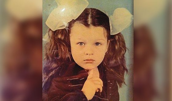 Milla Jovovich as a Child