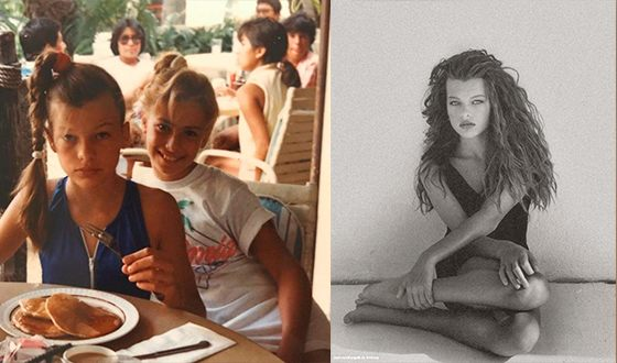 Milla Jovovich in her youth