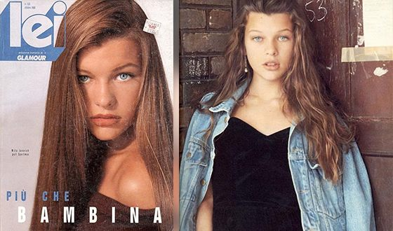 The first photo of the 11-year-old Milla Jovovich appeared in the Italian fashion magazine