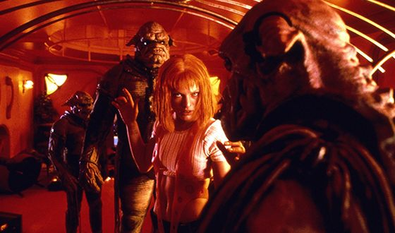 Milla Jovovich as an alien Lilu in The Fifth Element