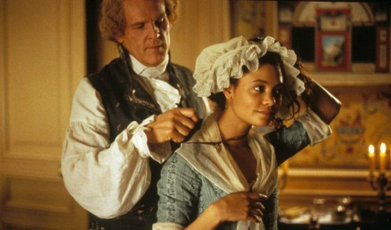 """Tandy Newton on the set of the film """"Jefferson in Paris"""""""