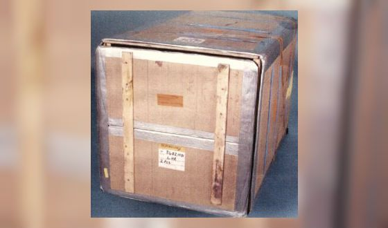 The crate in which Rawson hid the money