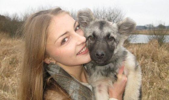 Tatyana Kazyuchits and her dog