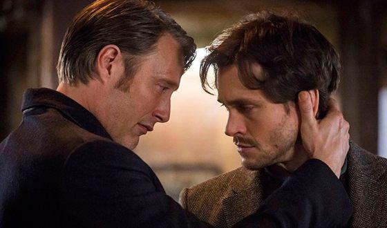 "Hugh Dancy and Mads Mikkelsen in the TV series ""Hannibal"""