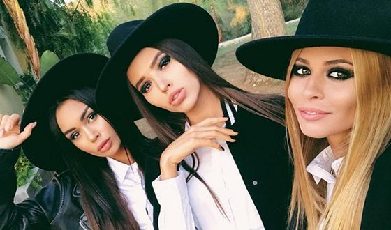 "Stars of the 6th season of the show ""Bachelor"": Aida Urazbakhtina, Victoria Korotkova and Anastasia Smirnova"