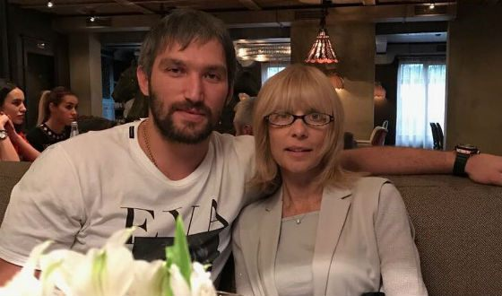 Alexander Ovechkin with mother-in-law - Vera Glagoleva