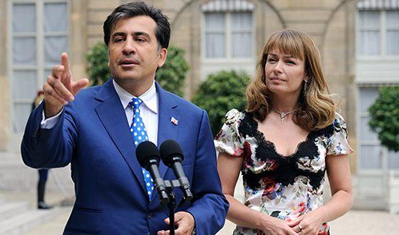 Михаил Саакашвили и Сандра Рулофс