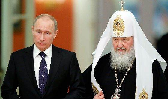Patriarch Kirill and Vladimir Putin