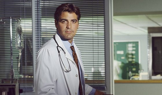 "George Clooney in the series ""Ambulance"""