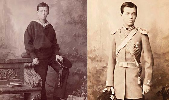 Nicholas II in his youth