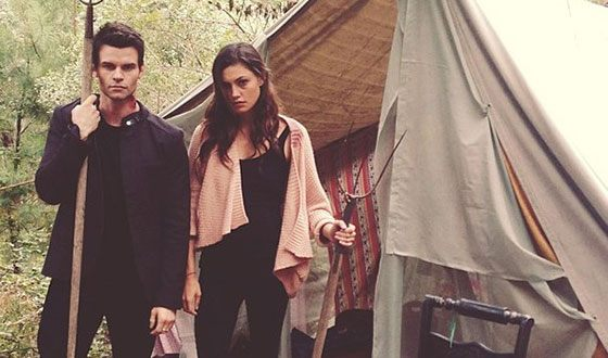 """Phoebe Tonkin on the set of the series """"The Ancients"""""""