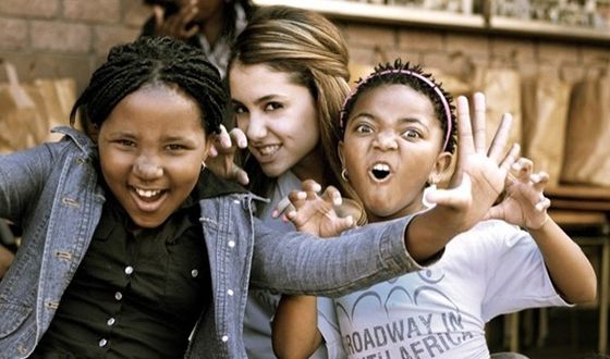 "Since 2014, Ariana became an activist of the project ""Broadway in South Africa"""