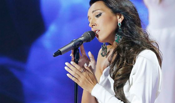 "Alsou came to the opening of the ""New Wave"" in white and with a scythe"