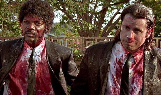 Samuel L. Jackson and John Travolta in The Pulp Fiction