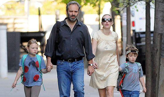 Кейт Уинслет, ее муж Сэм Мендес и ее дети