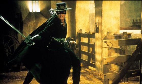 Antonio Banderas in the film called «The Mask of Zorro»