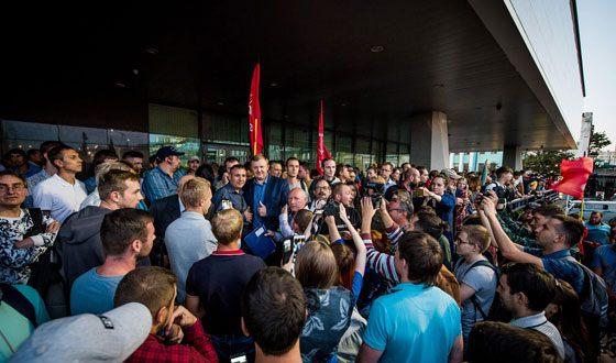 Rally in support of Andriy Ishchenko in Vladivostok