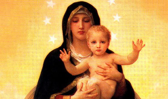 Дева Мария с младенцем Иисусом
