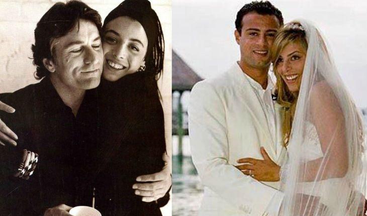 Слева: Де Ниро и его приемная дочь Дрена, справа: Рафаэль Де Ниро с женой