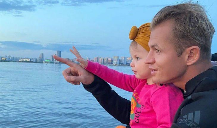 Дмитрий Тарасов со старшей дочкой