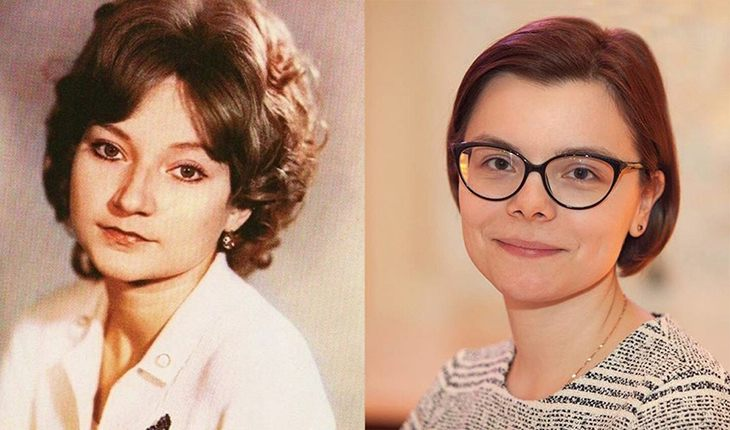 Елена Степаненко в юности и Татьяна Брухунова