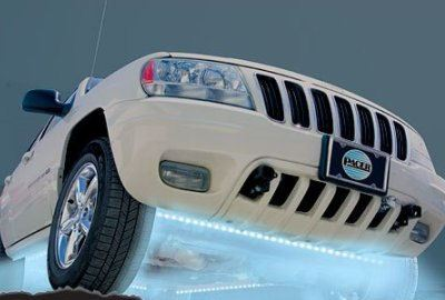 Подсветка днища автомобиля с помощью светодиодной лампы