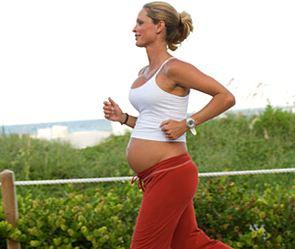 27-летняя Эмбер Миллер вышла на старт на 39-й неделе беременности