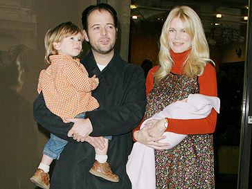 Claudia Schiffer with husband directed by Matthew Vaughn and children