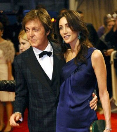 Paul McCartney and Nancy are truly happy.