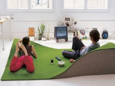 Рельефный ковер заменит диваны и кресла