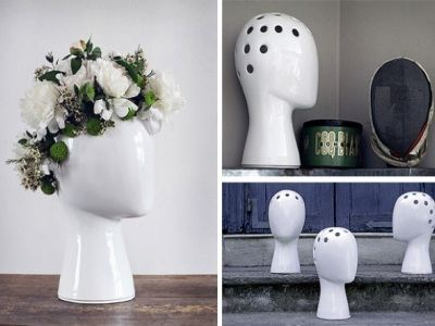 Ваза-голова станет необычным местом для цветов