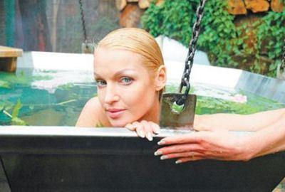 Волочкова обожает баню