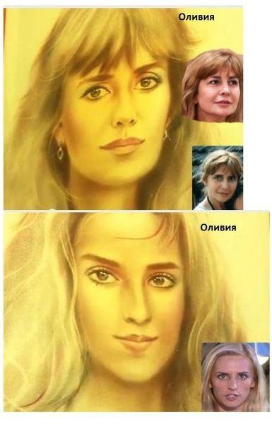 Портреты Ирины Александровны и Оли, написанные художником из Анапы