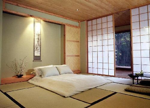 Японский стиль в интерьере делает шкаф - купе