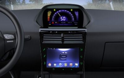 Информационный дисплей машины