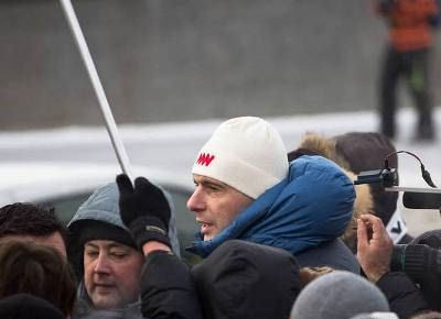 Mikhail Prokhorov went at the head of the opposition column